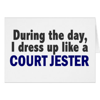 Court Jester During The Day Card