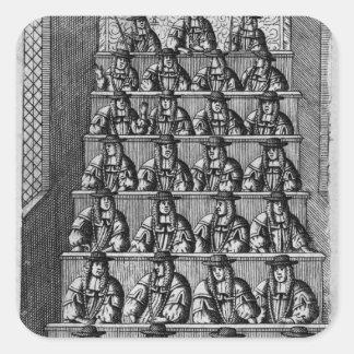 Court of Aldermen, c.1690 Square Sticker