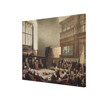 Court of Exchequer, Westminster Hall Canvas Print