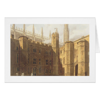 Court of King's College, Cambridge, from 'The Hist Card