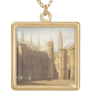 Court of King's College, Cambridge, from 'The Hist Gold Plated Necklace