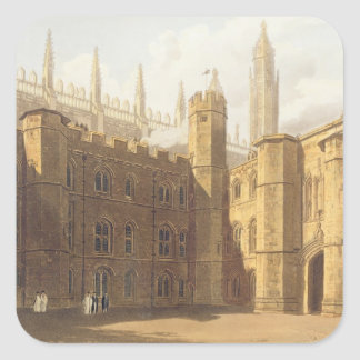 Court of King's College, Cambridge, from 'The Hist Square Sticker