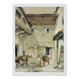 Court of the Mosque (Patio de la Mesquita), from ' Poster