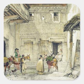 Court of the Mosque (Patio de la Mesquita), from ' Square Sticker
