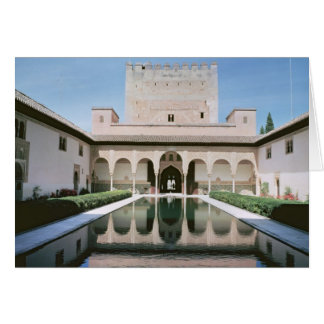 Court of the Myrtles, begun in 1333 Greeting Card