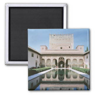 Court of the Myrtles, begun in 1333 Square Magnet