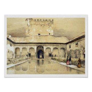 Court of the Myrtles (Patio de los Arrayanes) and Poster