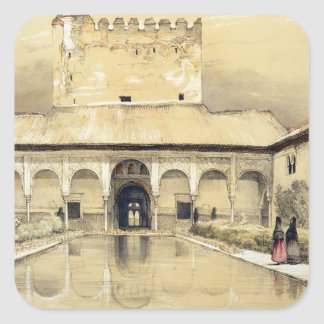 Court of the Myrtles (Patio de los Arrayanes) and Square Sticker
