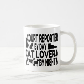 Court Reporter Cat Lover Basic White Mug