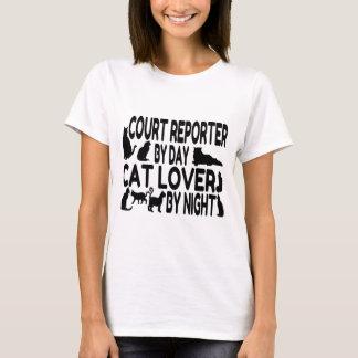 Court Reporter Cat Lover T-Shirt