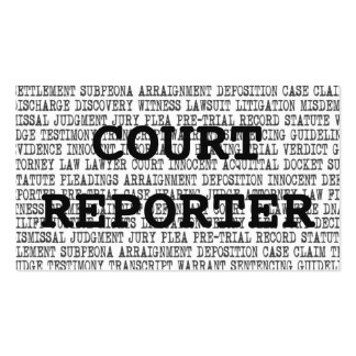 Court Reporter Legal Words Business Card