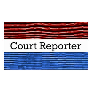 Court Reporter Patriotic Business Card