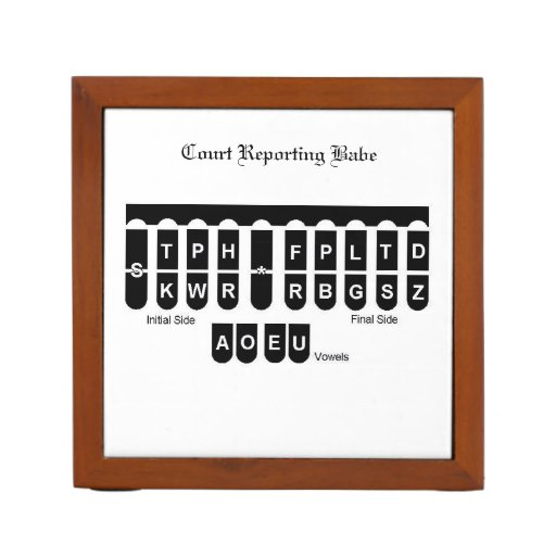 Court Reporting Babe Desk Organizer