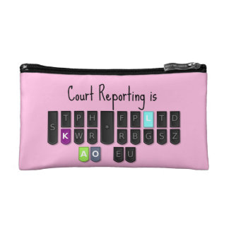 Court Reporting is Cool Steno Keyboard Clutch Cosmetics Bags