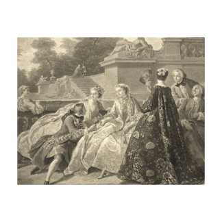 Court Society Versailles 1731 Canvas Print