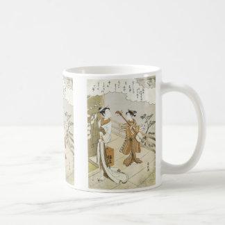 Courtesan and Attendant, Harunobu, 1760s Mug