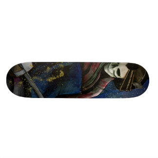Courtesan and Samisen Custom Skateboard