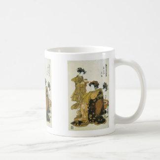 Courtesan Hanaogi, Koryusai, 1770s mug