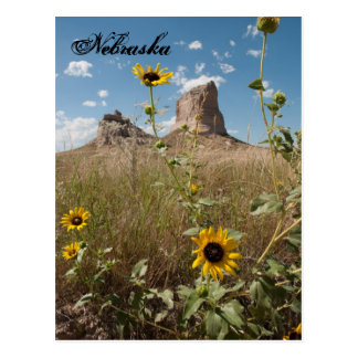 Courthouse and Jail Rock, Nebraska Postcard