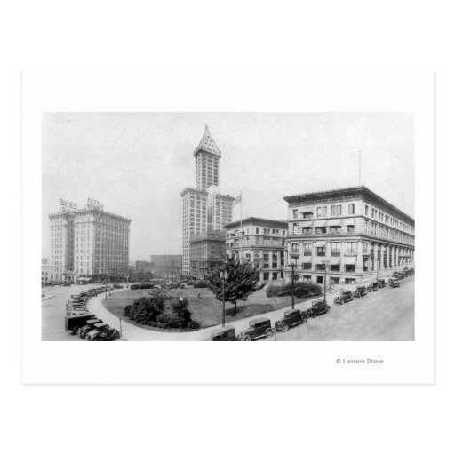 Courthouse Square and Smith Tower in Seattle Postcards