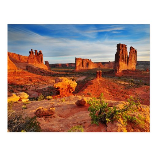 Courthouse Towers in Arches National Park, Utah Post Cards