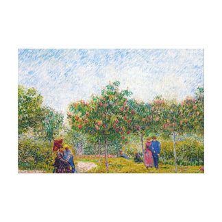Courting Couples in the Voyer d'Argenson Park Gogh Canvas Print