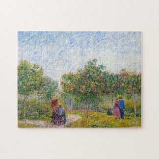 Courting Couples in the Voyer d'Argenson Park Gogh Puzzles