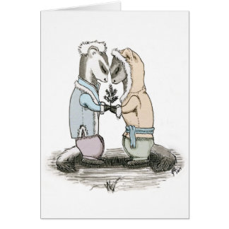 Courting Ferrets blank card