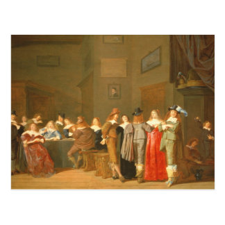 Courting Scene, 1644 (oil on canvas) Postcard