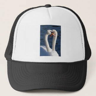 Courting Swans Trucker Hat