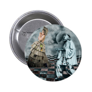 COURTLY JESTERS 6 CM ROUND BADGE
