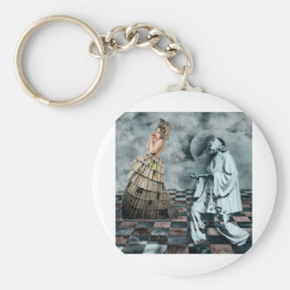 COURTLY JESTERS BASIC ROUND BUTTON KEY RING