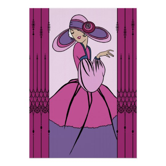 COURTNEY, ART DECO: Parisian Plum Poster