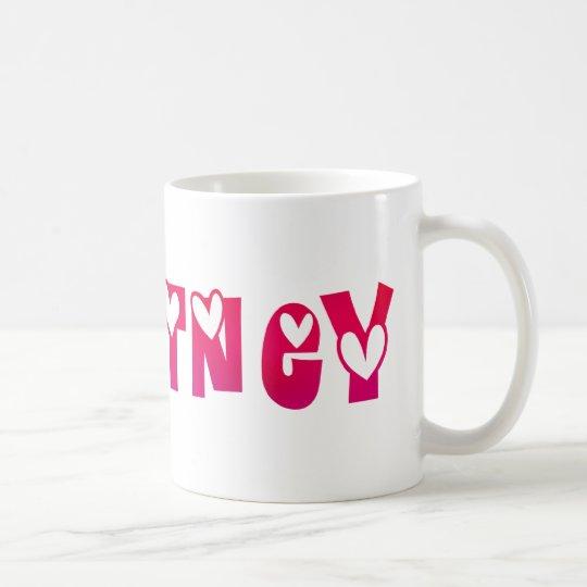 Courtney in Hearts Coffee Mug