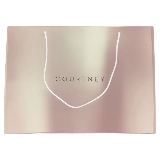 COURTNEY Rose Gold Blush Pearly Minimal Gift Large