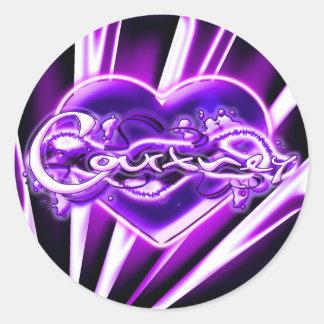 Courtney Round Sticker