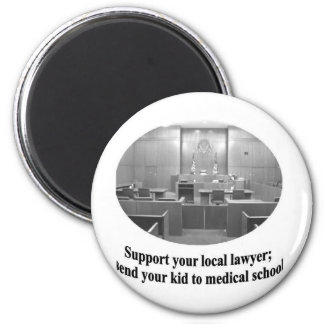Courtroom Scene with Attorney quote Magnet