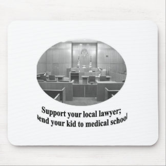 Courtroom Scene with Attorney quote Mouse Pads