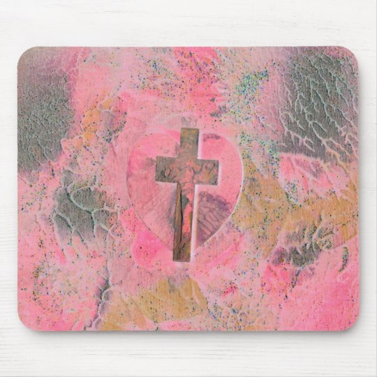 COURT'S CROSS HEART MOUSE PAD