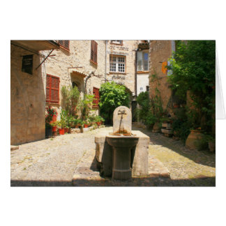Courtyard Fountain Card