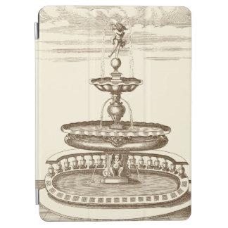 Courtyard Fountain with Ornamental Cherub iPad Air Cover