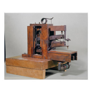 Couseuse', the first sewing machine, 1830 poster