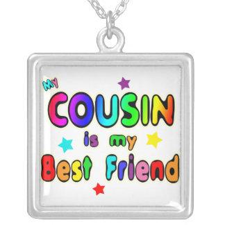 Cousin Best Friend Square Pendant Necklace