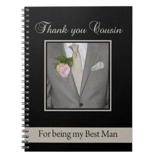 Cousin   best man thank you notebook