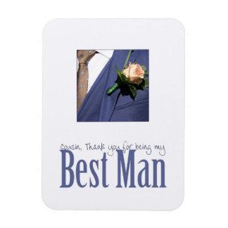 Cousin   best man thank you rectangular photo magnet