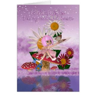 Cousin Birthday Card With Sugar Plum Fairy
