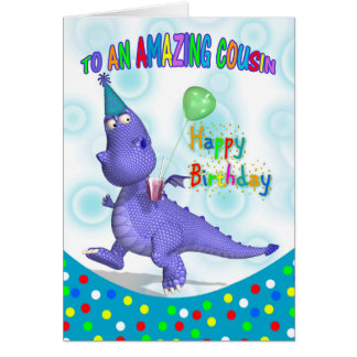 Cousin Birthday With Purple Dragon Drink And Ballo Card
