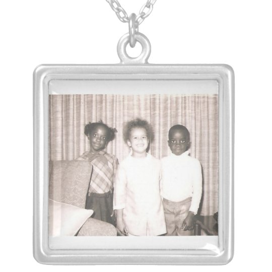 Cousin Brother & Sister Silver Plated Necklace
