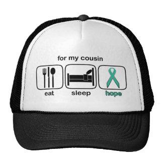 Cousin Eat Sleep Hope - Ovarian Mesh Hats
