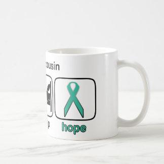 Cousin Eat Sleep Hope - Ovarian Coffee Mugs